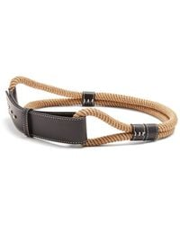 ROKSANDA - Leather Trimmed Rope Waist Belt - Lyst