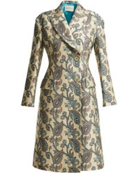 Etro - Carmen Paisley Jacquard Cotton Blend Coat - Lyst