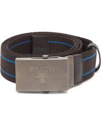 Prada - Striped Canvas Belt - Lyst