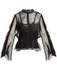 Jonathan Simkhai - Bell-sleeved Layered-lace Blouse - Lyst