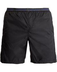 Fendi - Logo-jacquard Swim Shorts - Lyst