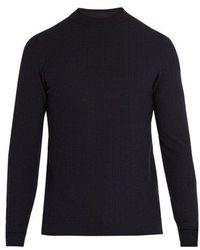 Giorgio Armani - Herringbone Knit Sweater - Lyst