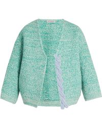 Vika Gazinskaya - Plaited-detail Wool Open Cardigan - Lyst
