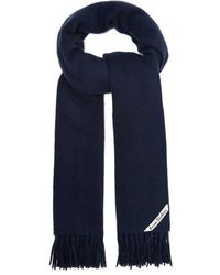 Acne Studios - - Canada Fringed Wool Scarf - Mens - Navy - Lyst