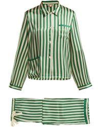 Morgan Lane - Ruthie Striped Silk Pyjama Set - Lyst