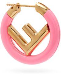 Fendi - F Is Single Hoop Earring - Lyst