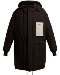Raf Simons - Oversized Houndstooth Padded Down Parka - Lyst