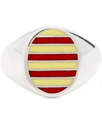 Jessica Biales - Enamel & Sterling-silver Ring - Lyst