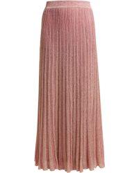 Missoni - Ribbed Knit Lamé Skirt - Lyst