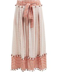 Dodo Bar Or Rodica Gingham Cotton Skirt - Multicolour