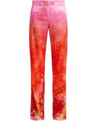 Peter Pilotto - Gradient Print Silk Blend Trousers - Lyst