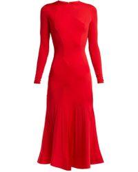 Esteban Cortazar - Stretch Jersey Panelled Dress - Lyst