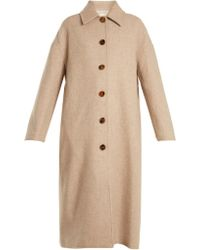 Khaite | Carolina Single-breasted Wool Coat | Lyst