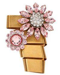 Miu Miu - Floral Crystal-embellished Brooch - Lyst