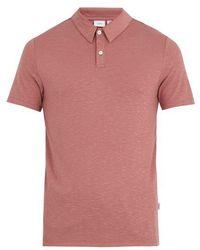 Onia - Alec Slub-jersey Polo Shirt - Lyst