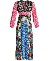 Duro Olowu - Ivy Contrast Panel Silk Dress - Lyst