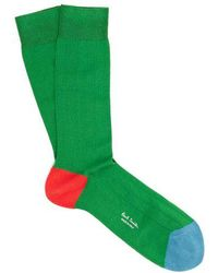 Paul Smith - Colour-block Cotton-blend Socks - Lyst