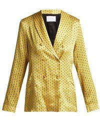 Beautiful Bottoms - Geometric-print Silk Pyjama-style Jacket - Lyst