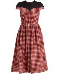 Fendi - Madras-check Cotton Dress - Lyst