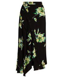 Proenza Schouler - Lily-print Asymmetric Skirt - Lyst