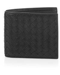 Bottega Veneta - Intrecciato Bi-fold Leather Wallet - Lyst
