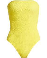 Diane von Furstenberg - Strapless One Piece In Yellow - Lyst