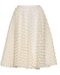 Rochas - Textured-fabric A-line Skirt - Lyst