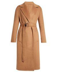 CALVIN KLEIN 205W39NYC - Notch Lapel Tie-waist Wool Coat - Lyst