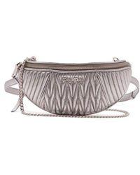 Miu Miu - Matelassé-quilted Leather Belt Bag - Lyst