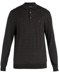 Polo Ralph Lauren - Striped Long-sleeved Wool Polo Shirt - Lyst