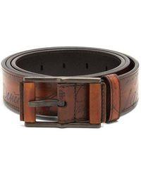 Berluti - Mogano Leather Belt - Lyst
