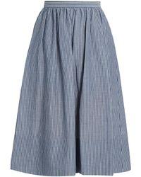 Vince - Striped Cotton Skirt - Lyst