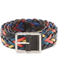 Paul Smith - Reversible Woven Leather Belt - Lyst