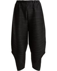 Pleats Please Issey Miyake - Bounce Pleated Trousers - Lyst