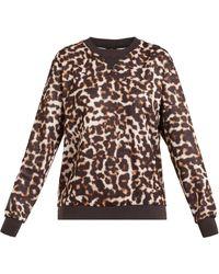 The Upside - Lulu Leopard-print Crew-neck Jersey Sweatshirt - Lyst