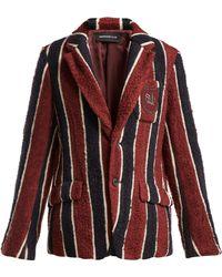 Undercover Striped Bouclé Blazer - Red