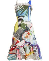 Mary Katrantzou - Kara Pop Art Print Crepe Dress - Lyst