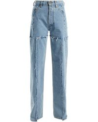 Vetements High Rise Straight Leg Jeans