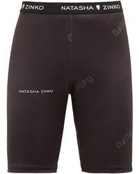 Natasha Zinko - Logo Jacquard Technical Jersey Shorts - Lyst