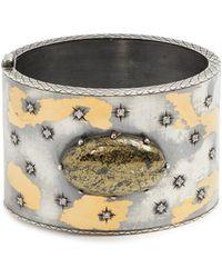 Bottega Veneta - Sterling-silver Embellished Cuff - Lyst