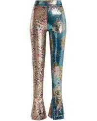 Halpern - High-rise Sequin-embellished Skinny Trousers - Lyst