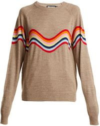 House of Holland | Cut-out Wave-pattern Wool-blend Jumper | Lyst