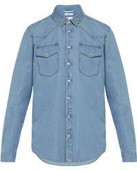 Valentino - Rockstud Untitled Chambray Shirt - Lyst