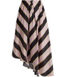 Apiece Apart - Turkanna Striped Silk And Linen Blend Skirt - Lyst