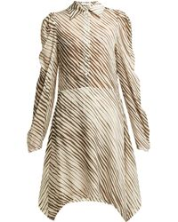 See By Chloé - Zebra Striped Mini Shirt Dress - Lyst