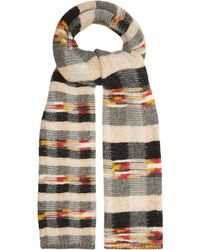 Missoni Checked Wool Blend Scarf