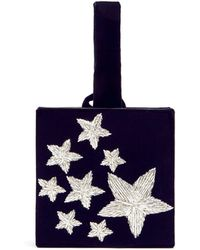 Sanayi 313 - Stelle Star Embroidered Velvet Box Clutch - Lyst