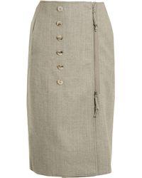 Altuzarra - Jupe crayon en laine mélangée à boutons Sorrel - Lyst