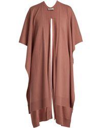 Palmer//Harding - Slit-hem Wool And Cashmere-blend Poncho - Lyst