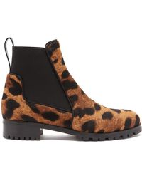 351b1fbb6ea2 Christian Louboutin - Marchacroche Leopard Print Calf Hair Ankle Boots -  Lyst